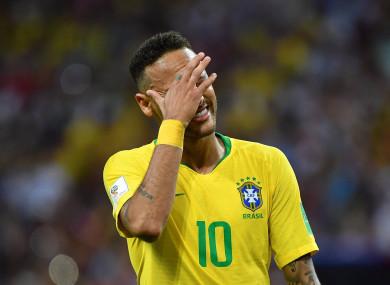 Neymar endured a difficult World Cup for Brazil.
