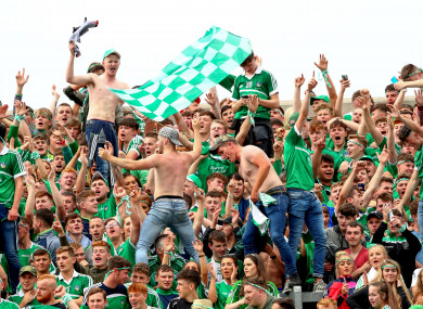 Limerick fans celebrate as their county book an All-Ireland final place.