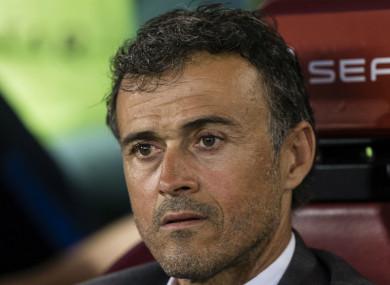 New Spain coach Luis Enrique