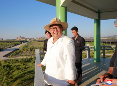 A photograph of Kim Jong Un provided by the North Korean government.
