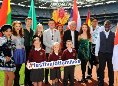 Some of the cast that will feature in Croke Park.