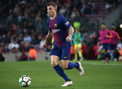 Digne joined Barca from PSG in 2016.