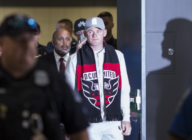 Rooney completed his move to DC United over the weekend.