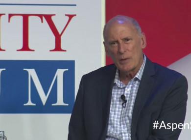 National Intelligence Director Dan Coats speaks at the Forum in Aspen, Colorado.