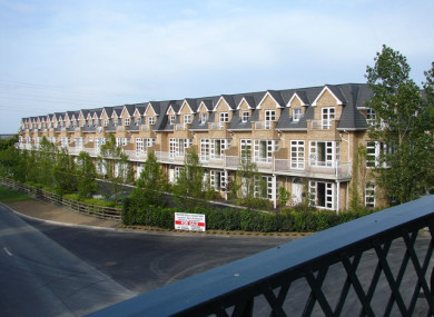 Homes on Garter Lane, shortly after their construction