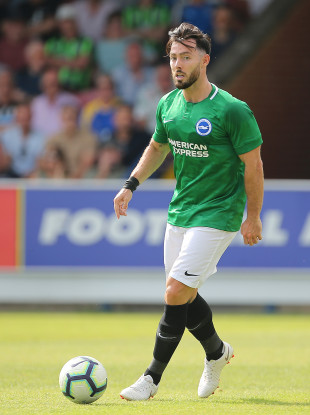 Richie Towell playing for Brighton in a recent pre-season friendly against AFC Wimbledon.