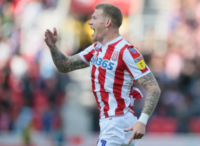 McClean celebrates opening the scoring against Hull City.