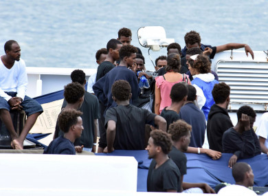 ireland agrees to take in migrants from boat stranded off italian