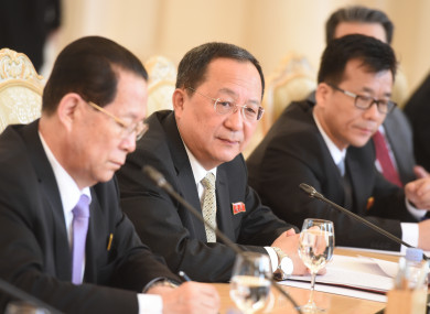 Foreign Minister of the Democratic People's Republic of Korea Ri Yong-ho