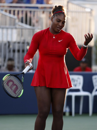 Dejection: Serena Williams.