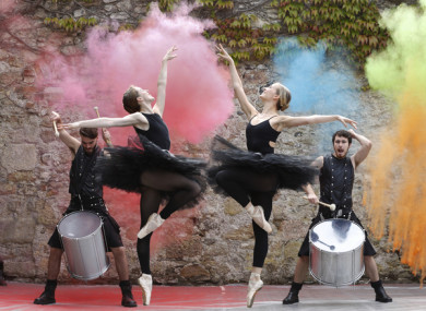 Ballerinas from Dance Ireland and The Hit Machine, at the Culture Night 2018 programme launch in Marlay Craft Courtyard at Marlay Park.