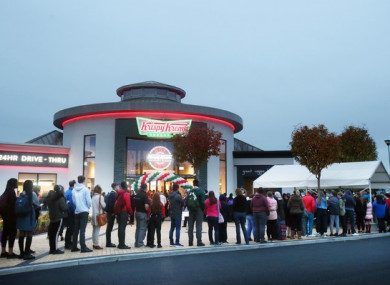 Hundreds queued from before dawn to get into Dublin's newest doughnut shop.