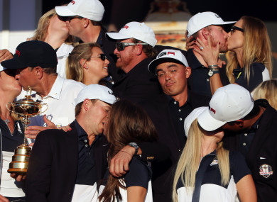 Rickie Fowler is the odd one out at Hazeltine during the 2016 Ryder Cup.