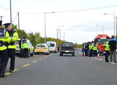 An Operation Thor checkpoint outside Kilkenny last year.