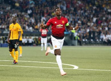Make it a double: Captain Paul Pogba.
