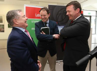 Labour TDs (L to R) Brendan Howlin, Seán Sherlock Alan Kelly.