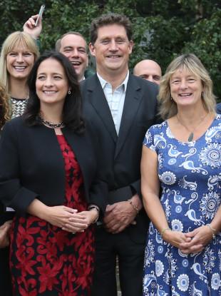 Green Party Leader Eamon Ryan, TD Catherine Martin and Senator Grace O'Sullivan.