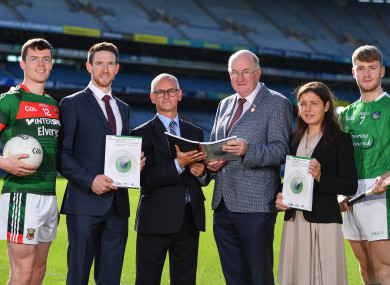 GAA President John Horan at the launch of the ESRI report into playing senior inter-county games.