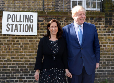 The couple at a polling station in 2016