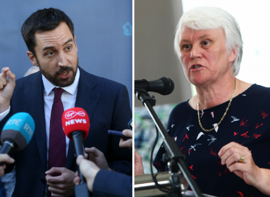 Eoghan Murphy (L) and Catherine Byrne (R)