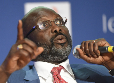 Weah: officially started his presidential term in January of this year.
