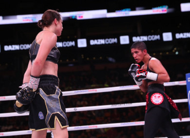 Taylor taunts opponent Cindy Serrano for not engaging in a one-sided contest