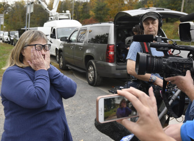Barbara Douglas talks to the media about her four family members that died.