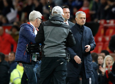Jose Mourinho at full-time on Saturday.