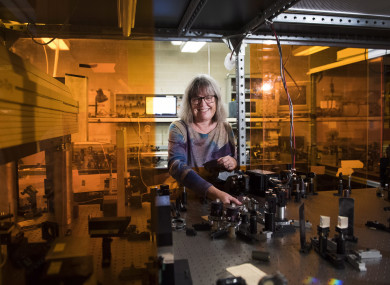 Nobel Prize winner Donna Strickland.