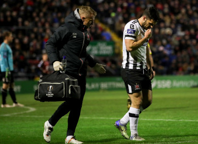 Hoban limped off with 10 minutes to go against Bohemians last Friday at Dalymount Park.