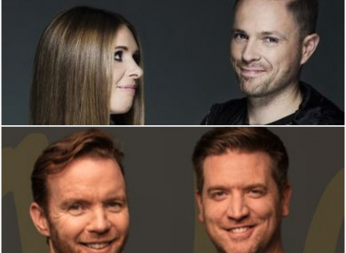Jenny Greene and Nicky Byrne's 2FM are gaining on Today FM, which features Dermot and Dave