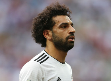 Egypt and Liverpool attacker Mohamed Salah