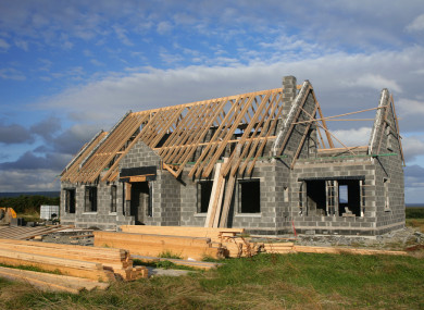 File photo. House under construction in rural area.