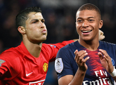 Mbappe has been compared to the former Manchester United forward.