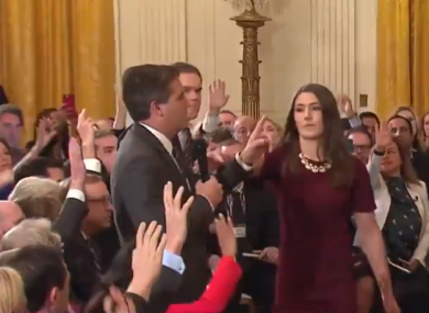 CNN correspondent Jim Acosta addresses Donald Trump in the White House