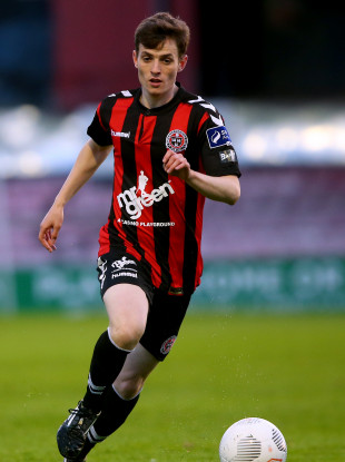 Ben Mohamed in action for Bohemians against Galway United in June 2016.