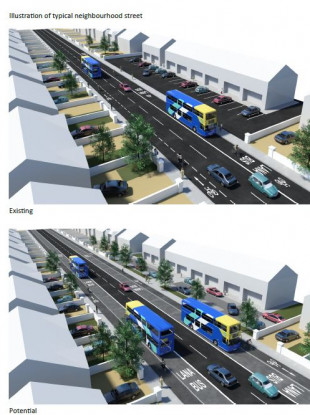 How a street could change under the new plan