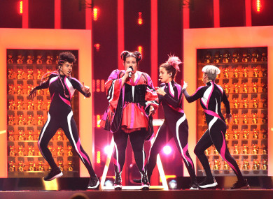 Netta Barzilai during the 2018 Eurovision Song Contest