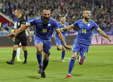Kosovo players celebrate (file pic).