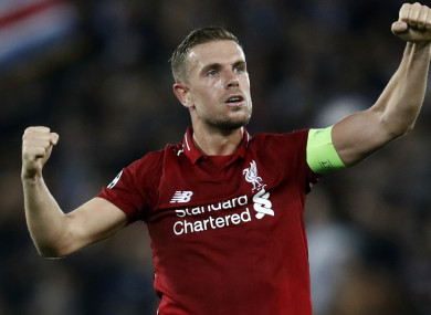 The Anfield skipper has been out for nearly a month out with a hamstring injury.