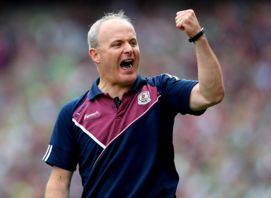 Staying put: Micheál Donoghue will remain in charge of the Galway hurlers until 2020