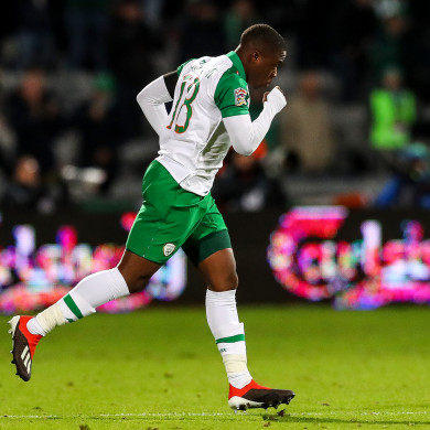 Michael Obafemi comes on for his Ireland debut.