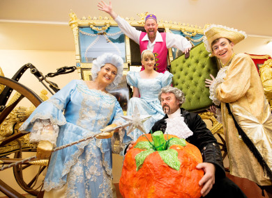 The cast of the Liberty Panto's Cinderella