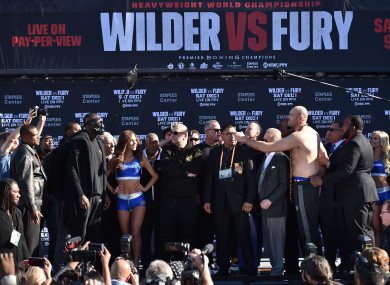 Undefeated heavyweights Deontay Wilder (left) and Tyson Fury will go head-to-head in LA on Saturday night.