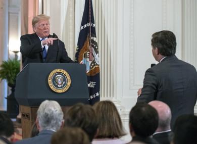 Trump and Acosta