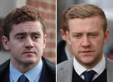 Paddy Jackson (left) and Stuart Olding were both found not guilty, alongside the other two defendants.