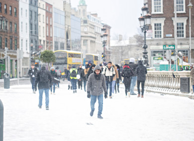 The snow in Dublin earlier this year.