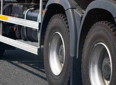 File photo of a truck's wheels.