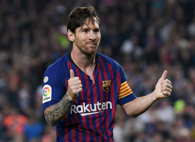 Messi is back in the mix for Barca.