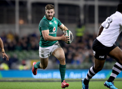 McCloskey on the run against Fiji last year.